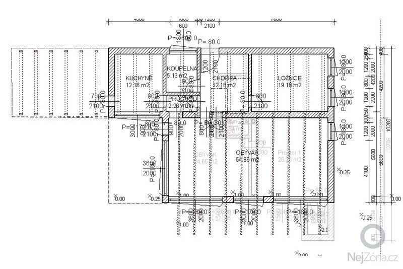 Hrubá stavba RD: _5pudorysprizemniho-podlazi