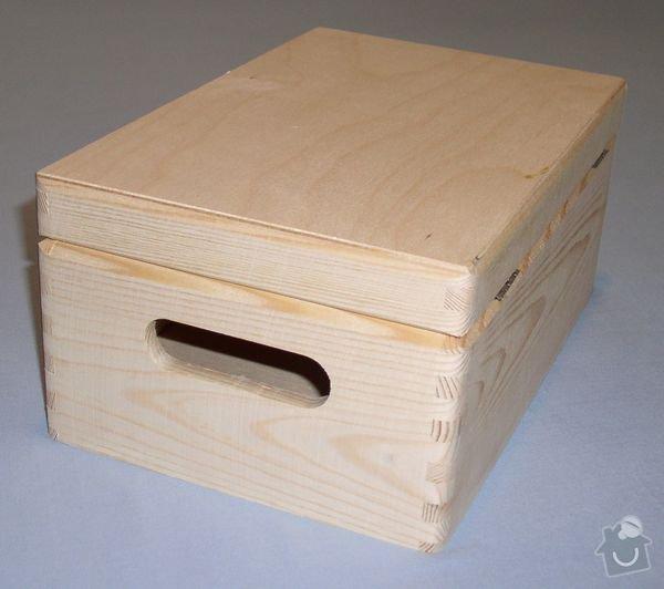 Dřevěné krabice/bedýnky z masivu: 40x30x24