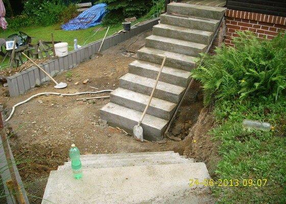 Oprava venkovního schodiště