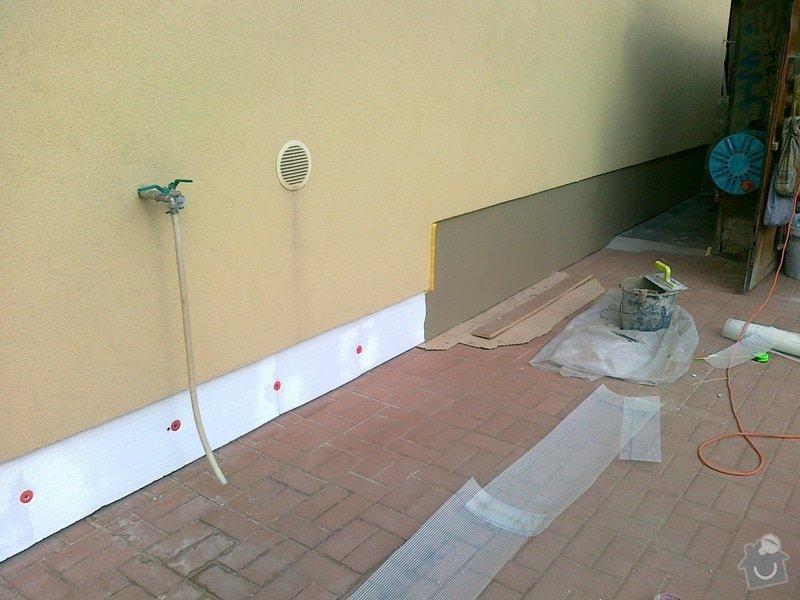 Obklad soklu RD + vnější finální omítka garáže: 090820131089