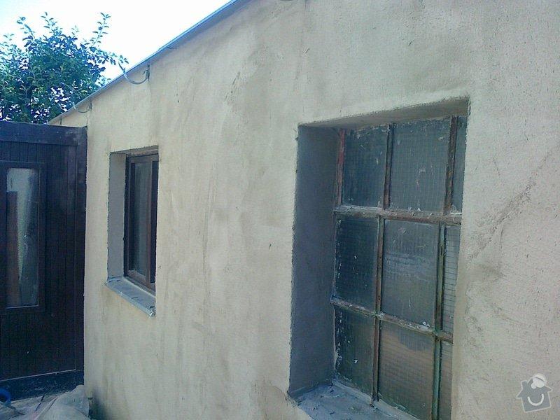 Obklad soklu RD + vnější finální omítka garáže: 070820131086