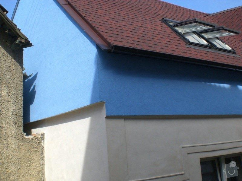 Rekonstrukce,zděného plotu,zámková dlažba,gril s udírnou,natáhnout fasádní barvu na rodiný dům: CIMG3164