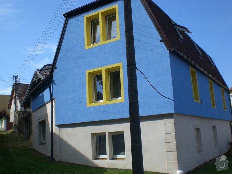 Rekonstrukce,zděného plotu,zámková dlažba,gril s udírnou,natáhnout fasádní barvu na rodiný dům: CIMG3165