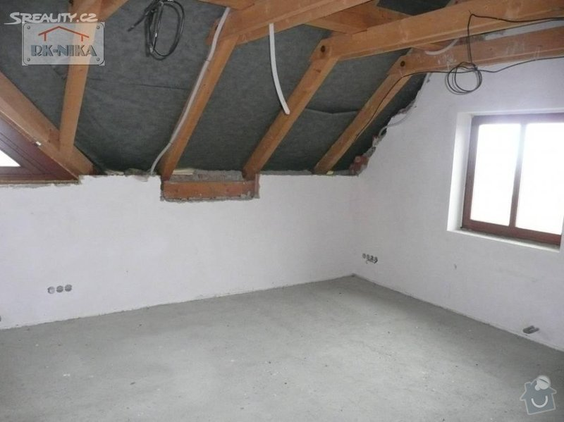 Střešní okna, zeteplení střechy: Loznice