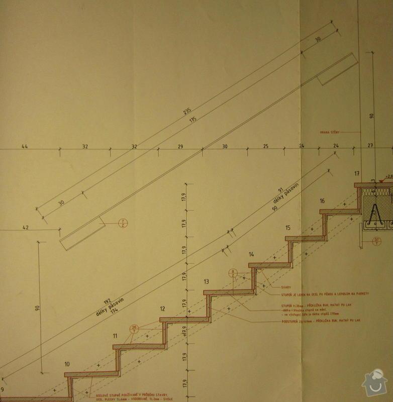 Dodávka a montáž zábradlí vnitřního schodiště: madlo2
