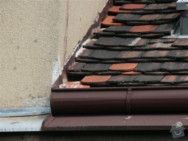 Výškové práce - oprava střechy: P1110346