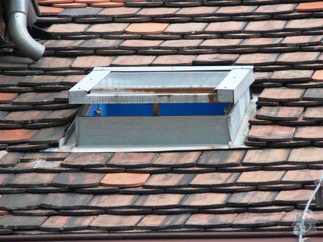 Výškové práce - oprava střechy: P1110347