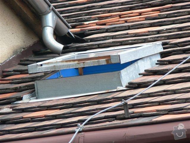 Výškové práce - oprava střechy: P1110348