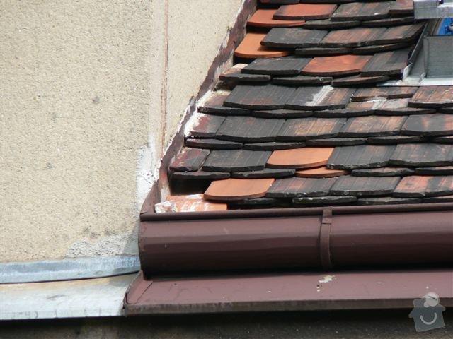 Výškové práce - oprava střechy: P1110349