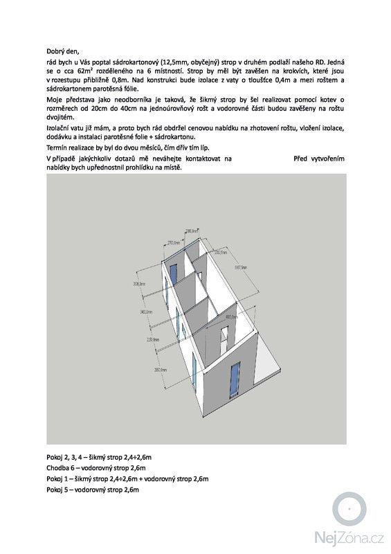 Sádrokarton + izolace: poptavka