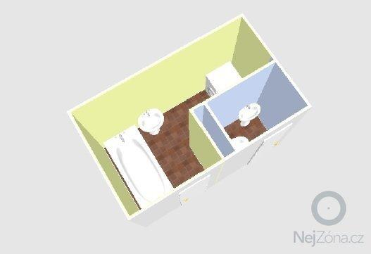 Rekonstrukcia bytu: kupelna_WC_3D