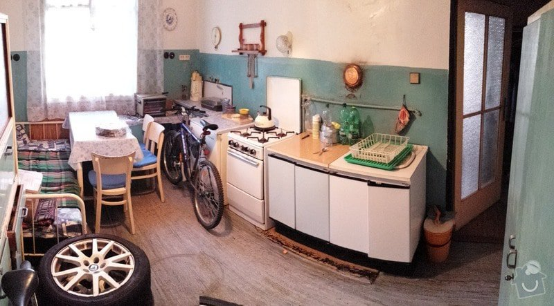 Rozvody elektriky, vody, plynu a topení ve 2+1: kuchyne