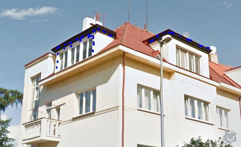 Nátěr žlabů a plechových částí střechy a oprava komínů : Nater_arkyru