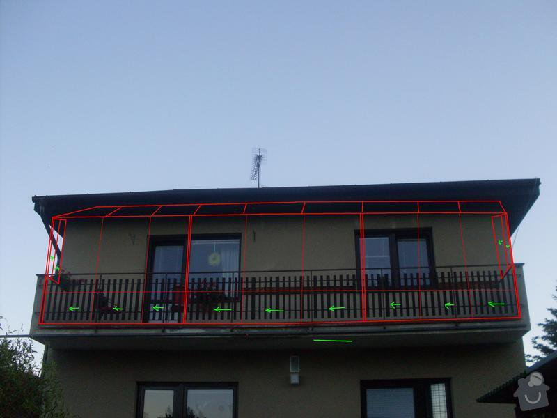Zasklení balkonu,: 333