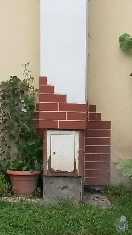 Oprava komína (opadané obklady): komin3