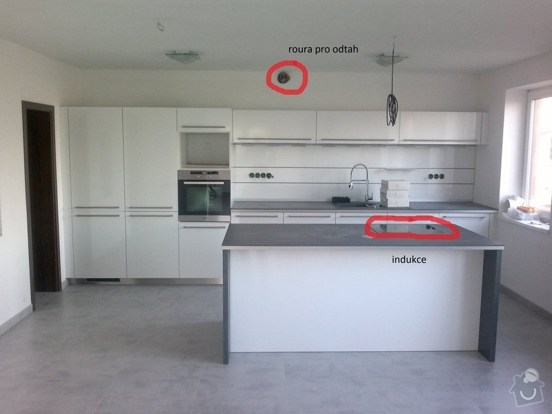 Montáž digestoře + sádrokartonový podhled: Kuchyn