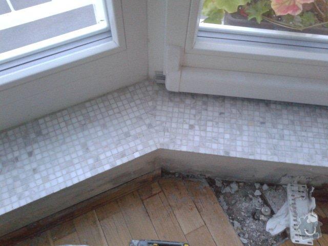 Obklad vnitřního parapetu okna mozaikou: 20130714_205614