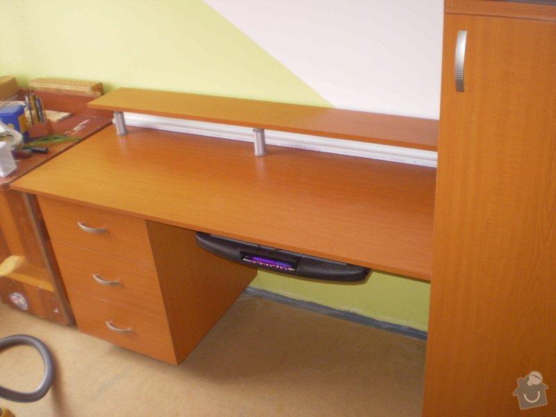 Skříň pro PC techniku, pracovní stůl s kontejnerem: P7190052