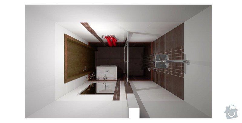 Rekonstrukce panelového bytu - jádro: koupelna-vizualizace-1
