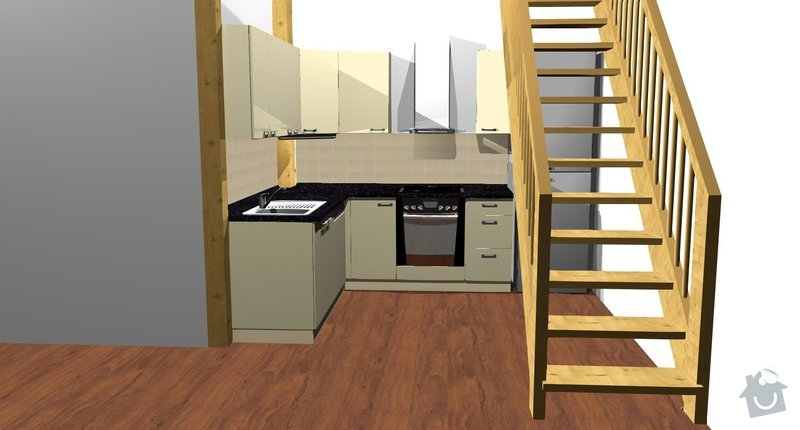 Kuchyňská linka: Kuchyne__pohled_1