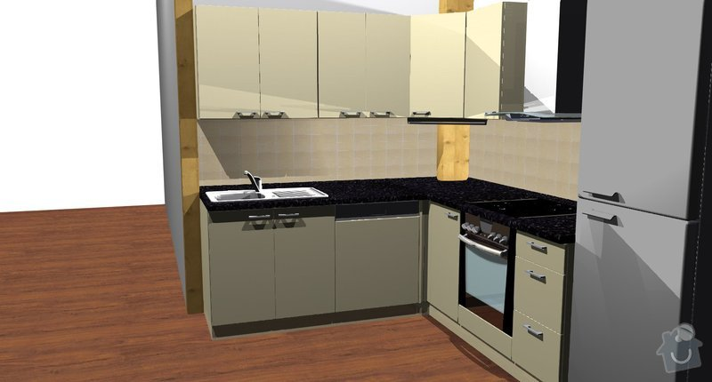 Kuchyňská linka: Kuchyne__pohled_4