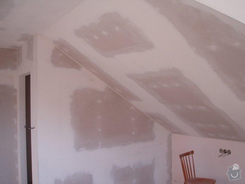 Montáž sádrokartonu (podkroví): P1010038