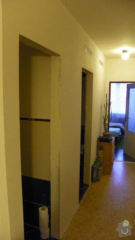 2 posuvné dveře před stěnu: stena_koupelna_WC