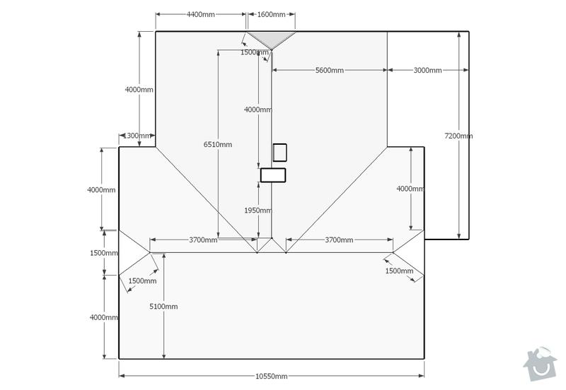 Rekonstrukce střechy RD: Nizbor_-_strecha_pudorys_k