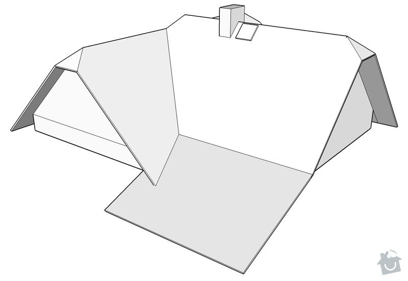 Rekonstrukce střechy RD: Nizbor_-_strecha_1
