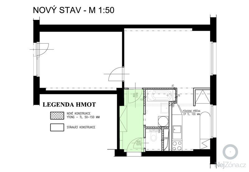 Zavěšený SDK podhled v chodbě: sdk