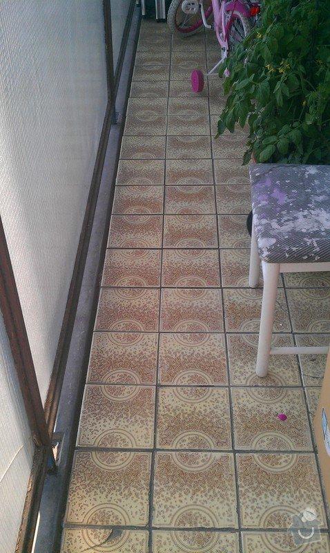 Oprava lodžie - zateplení stěny, výměna keramické dlažby, stěkování stěn: IMAG0479