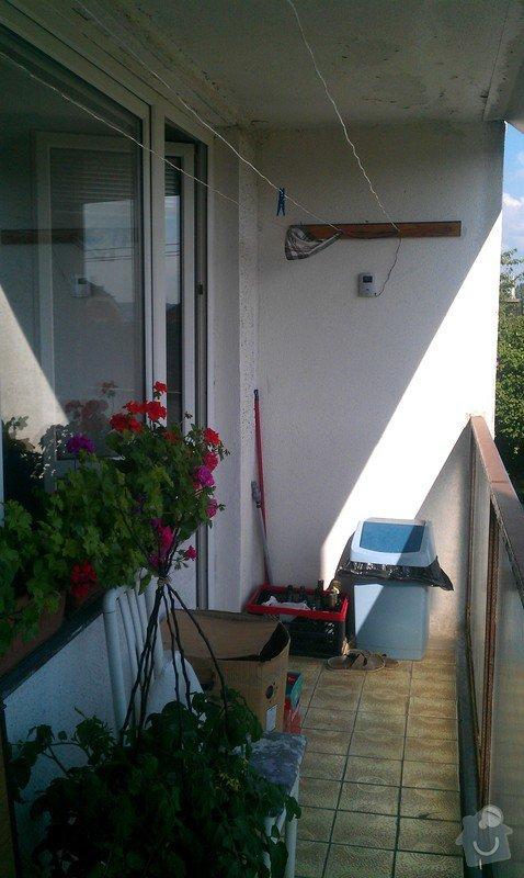 Oprava lodžie - zateplení stěny, výměna keramické dlažby, stěkování stěn: IMAG0483