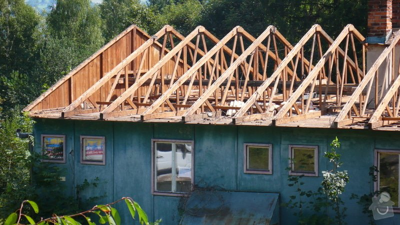 Tesařské práce, rozebrání krovu: P1160509