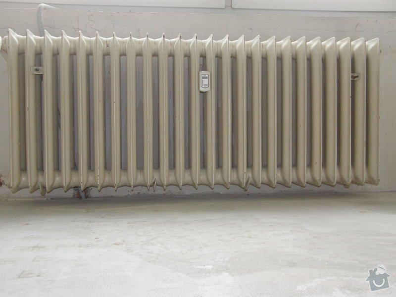 Demontáž 2 ks litinových radiátorů včetně likvidace, : P8200208