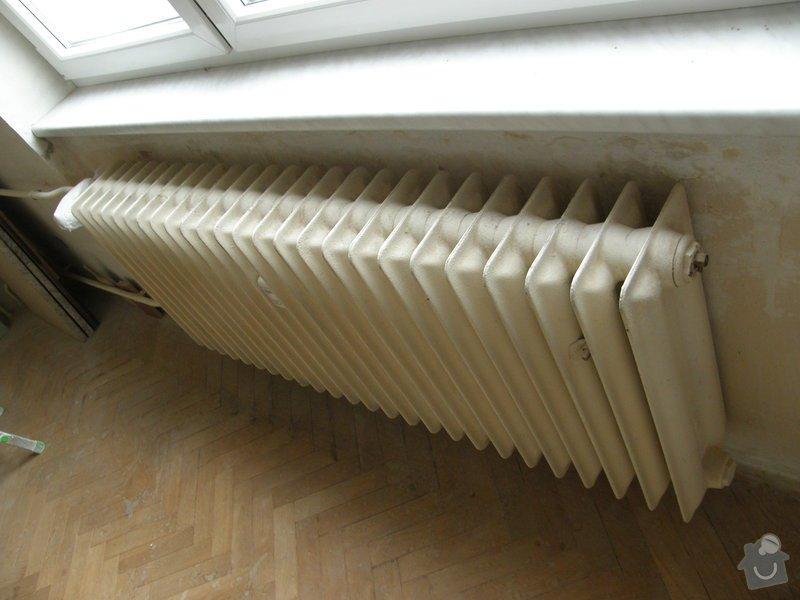 Demontáž 2 ks litinových radiátorů včetně likvidace, : P8200213