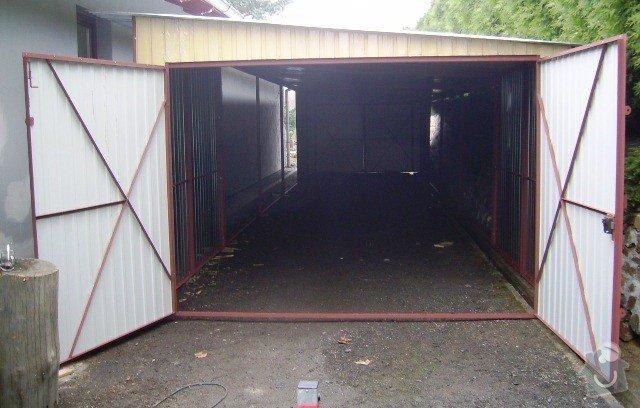 Plechová garáž: SSA40158