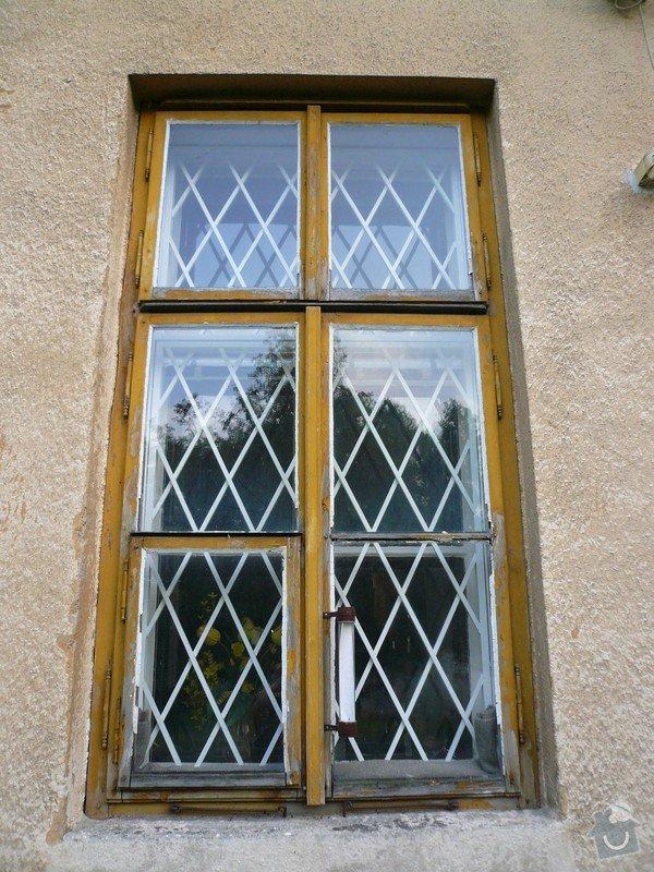 Natření/napuštění bezbarvým Luxolem, oprava a kytování  8mi dřevěných venkovních oken: okno_01-1
