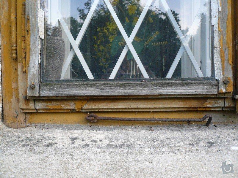 Natření/napuštění bezbarvým Luxolem, oprava a kytování  8mi dřevěných venkovních oken: okno_03-1