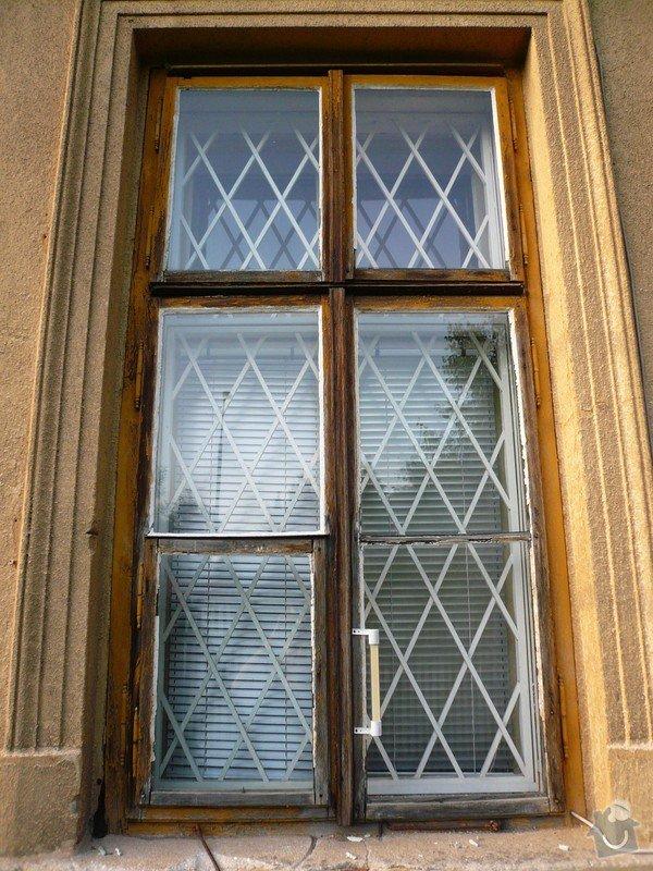 Natření/napuštění bezbarvým Luxolem, oprava a kytování  8mi dřevěných venkovních oken: okno_04-1