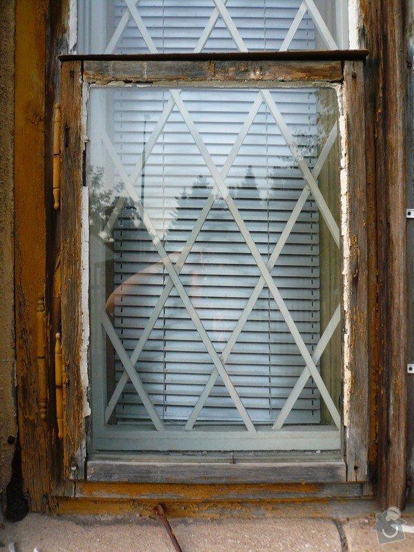Natření/napuštění bezbarvým Luxolem, oprava a kytování  8mi dřevěných venkovních oken: okno_05-1