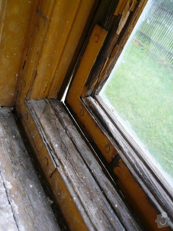 Natření/napuštění bezbarvým Luxolem, oprava a kytování  8mi dřevěných venkovních oken: okno_15-1