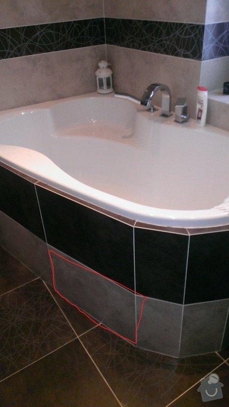 Instalatérské práce - oprava hadice od vany: vana