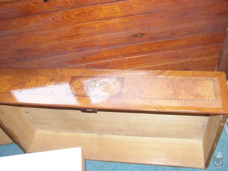 Oprava starožitné komody: PB195443