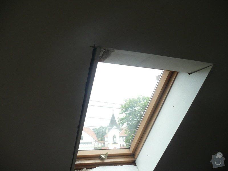 Osazení střešních oken sádrokartonem + 1 příčka: P1040223