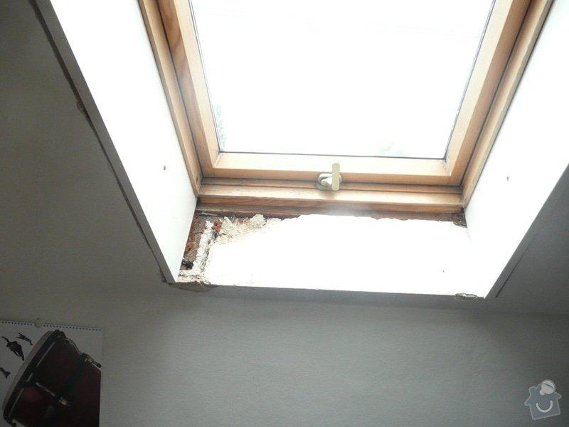 Osazení střešních oken sádrokartonem + 1 příčka: P1040224