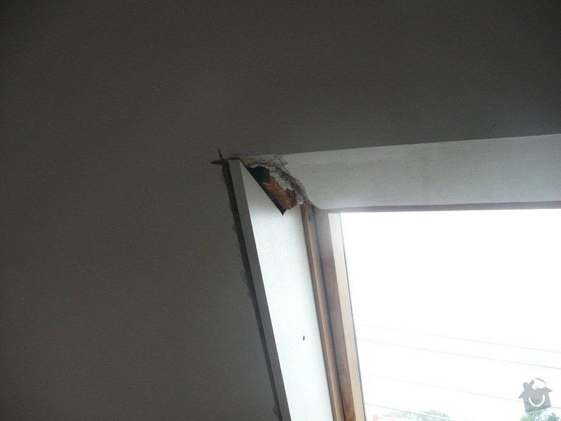 Osazení střešních oken sádrokartonem + 1 příčka: P1040225