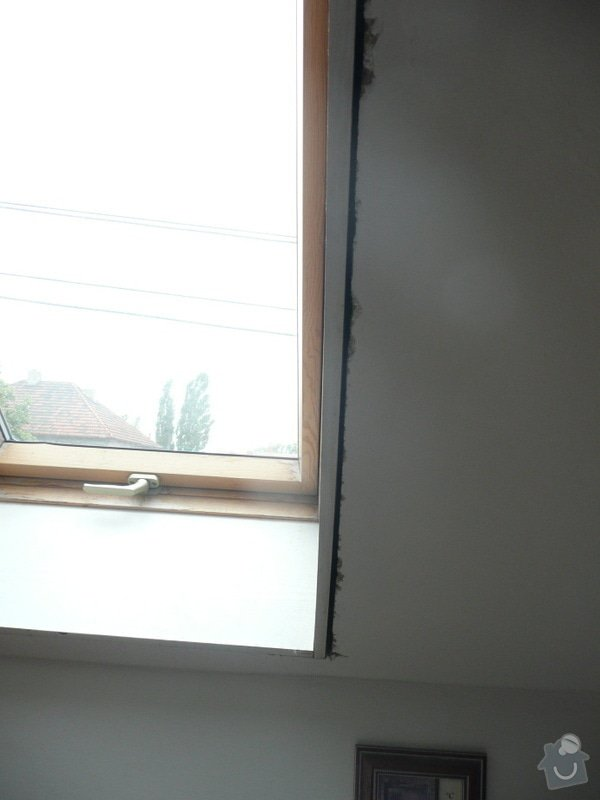 Osazení střešních oken sádrokartonem + 1 příčka: P1040227