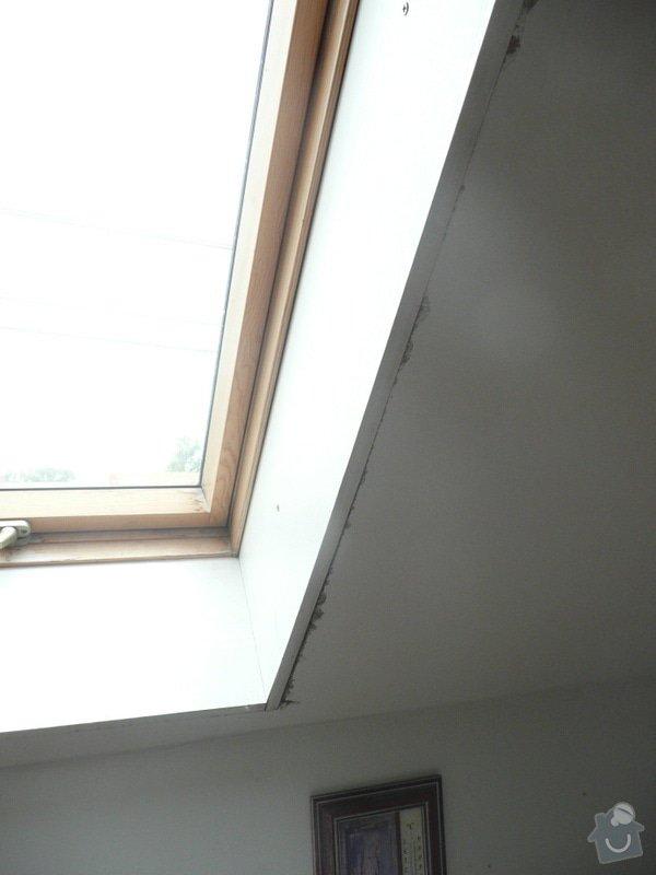 Osazení střešních oken sádrokartonem + 1 příčka: P1040228