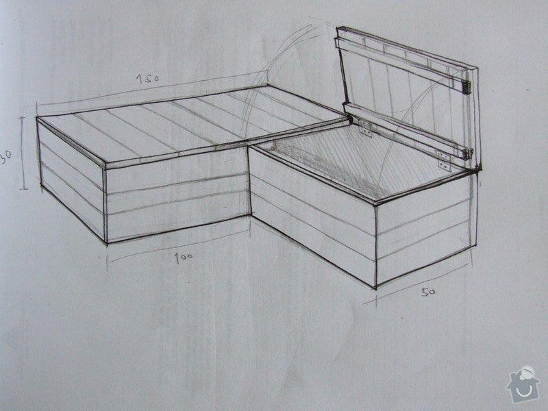 Dřevěný praktikábl s úložnými prostory: DSCF6696