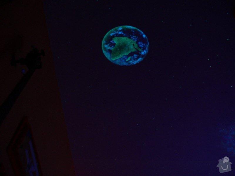Dekorace stropu noční oblohou: P1220644